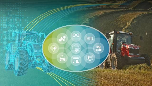 digital twin of a tractor