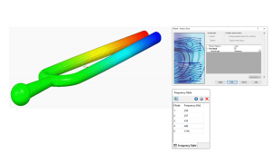 Modal frequency analysis (vibration analysis) with Simcenter FLOEFD