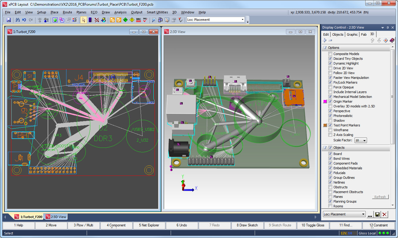 PCB Layout software ebbeded active passive design