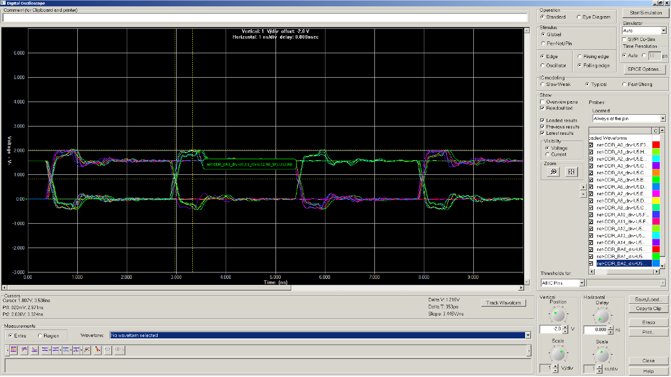 HyperLynx-DDR-interactive-oscilloscope
