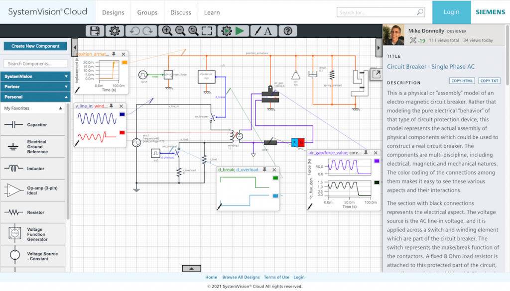 cloud-based circuit simulation
