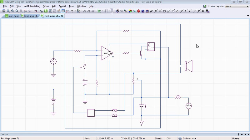 complete schematic design with PADS AMS cloud