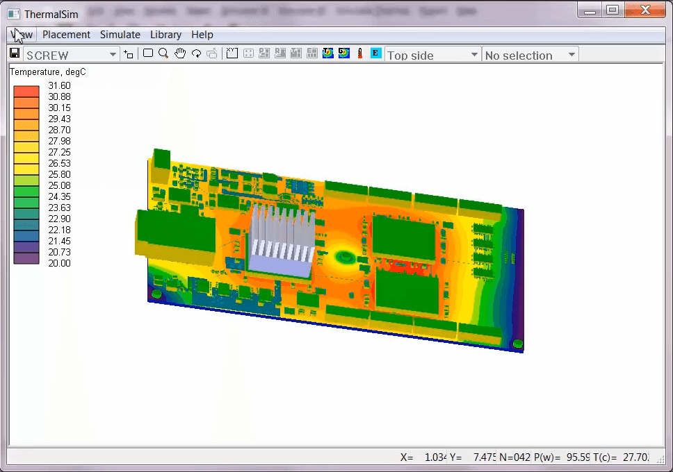 Thermal analysis with PADS Professional
