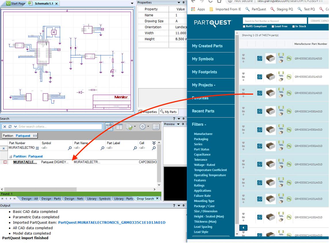 Part quest parts library for schematic design