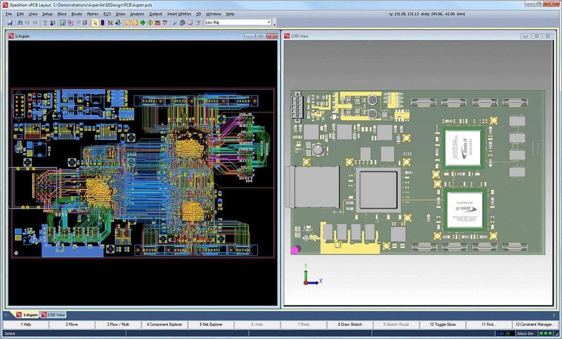 Integrated 2D-3D editing environment