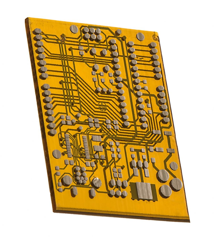 3D printed PCB prototype produced on the DragonFly Pro 3D Printer