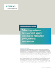 Achieving software development agility in complex, regulated environments