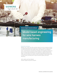 Model-based engineering for wire harness manufacturing